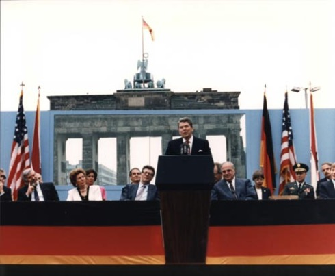 Ronald Reagan at Berlin Wall