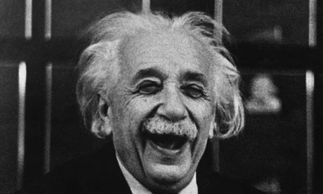 Happy Albert Einstein