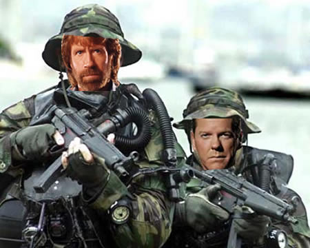 Navy SEALs Team Six made up of Chuck Norris and Jack Bauer