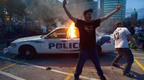 Vancouver Riots Photo - AP Photo/The Canadian Press, Jonathan Hawyard