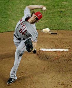 Jared Weaver Pitching