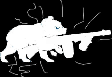 My Patronus is a bear cub with a tommy gun