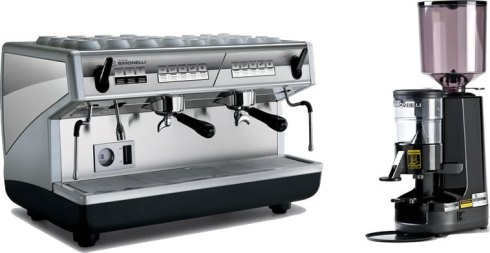 Nuova Simonelli Appia 2 Group Automatic Espresso Machine and MDX Espresso Grinder
