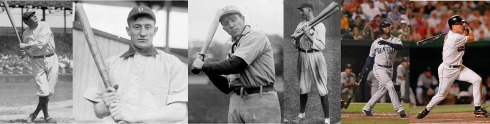 Bats at Louisville Slugger Museum include: Ruth, Wagner, Tinker, Jackson, Griffery Jr, and Ripken, Jr.