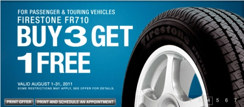 Firestone Fourth Tire Free