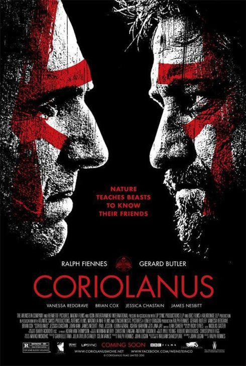 Coriolanus Poster with Ralph Fiennes and Gerard Butler