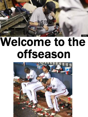 The Red Sox and Braves utterly collapsed. (These photos belong to professional photographers and can be found with a basic google search)