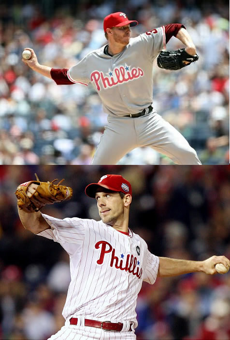 Roy Halladay and Cliff Lee Phillies
