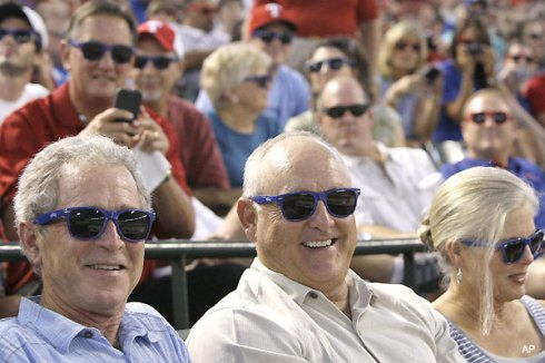 George W Bush and Nolan Ryan