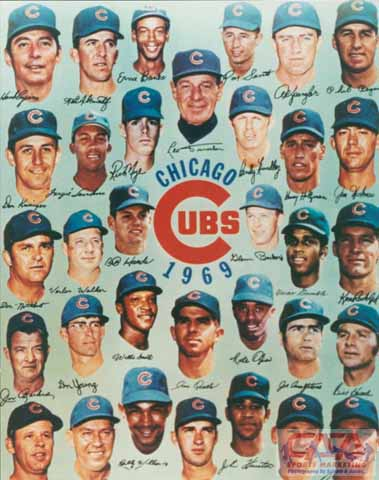1969 Cubs Banks Jenkins Santo Williams