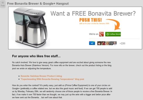 Free Bonavita Brewer