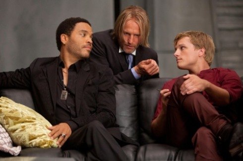Hunger Games Lenny Kravitz Woody Harrelson