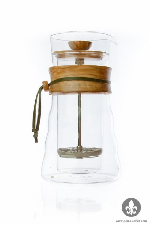 Hario French Press with Olive Wood