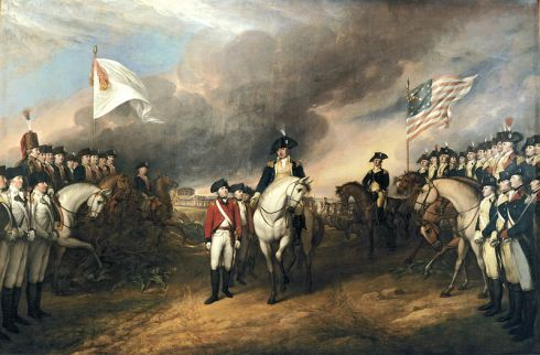 Lord Cornwallis sends an assistant to surrender at Yorktown