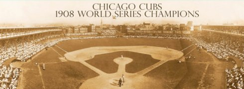 1908 World Series Champions Panoramic Canvas Print