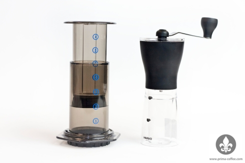 Aeropress Mini Mill Travel Combo