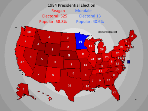 Reagan Mondale Election Results 1984