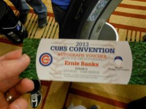 Ernie Banks Autograph Voucher
