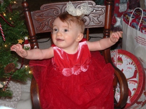 My daughter at christmas